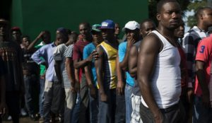 African migrants protest denial of passage through Mexico to get to the United States