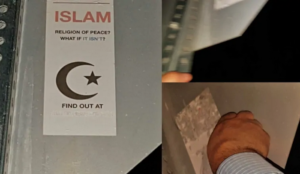 Canada: Police hunting for person who put up stickers asking what if Islam isn't a religion of peace