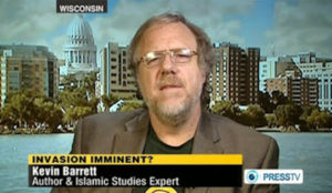 "Wisconsin-based ""Islamic scholar"" Kevin Barrett says on state-run Iranian TV that Jews killed JFK, RFK, and JFK Jr."