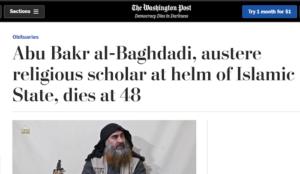 "Washington Post hails al-Baghdadi as ""austere religious scholar"""