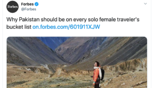 "Forbes: ""Why Pakistan should be on every solo female traveler's bucket list"""