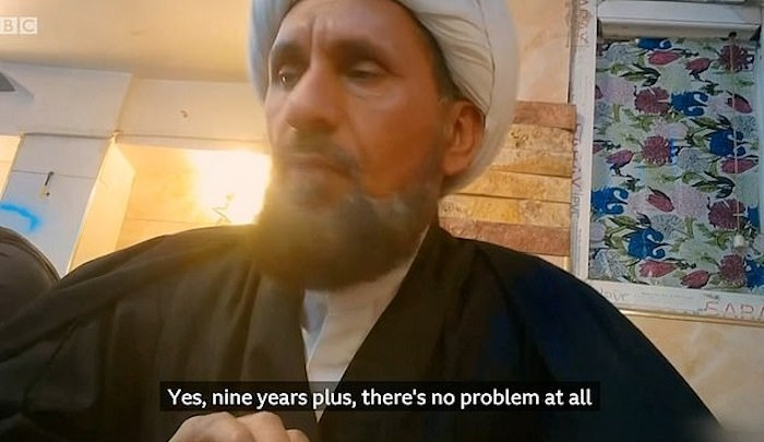 """Iraq: Girls as young as 9 sold for sex in temporary marriages, Muslim cleric says """"According to Sharia, no problem"""""""