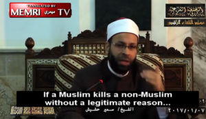 """""""Moderate"""" Samir Hashish: Blood of Muslims Worth More Than That of Infidels"""