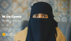UK: Leftist Welsh party campaign ad features niqabbed Muslima who wrote numerous anti-Semitic posts