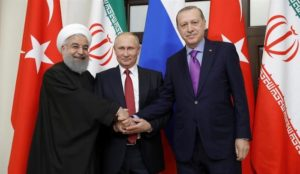"Putin quotes Qur'an in meeting with Rouhani and Erdogan: ""You were enemies and He brought your hearts together"""