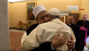 Pope embraces imam who has endorsed jihad suicide attacks against Jews and wants converts to Christianity killed