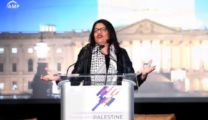 Rep. Rashida Tlaib gives keynote address at conference of anti-Semitic group dedicated to destroying Israel