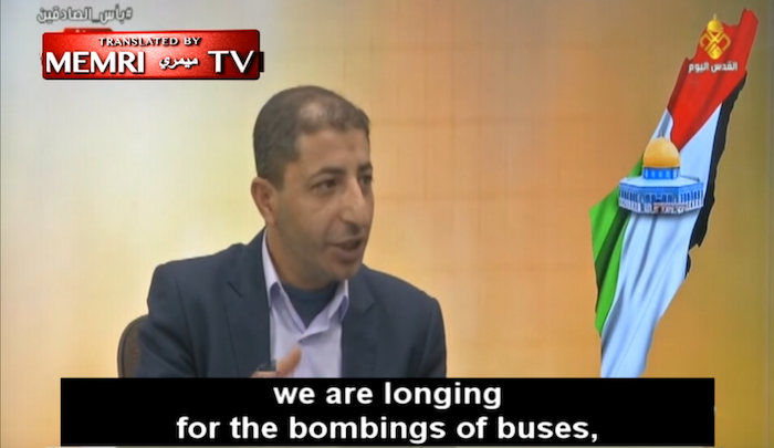 """""""Palestinian"""" activist: """"We are longing for bombings of buses, and martyrdom operations inside the Zionist entity"""""""