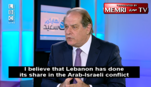 Former Lebanese Minister Sejaan Azzi: We Don't Want War with Israel