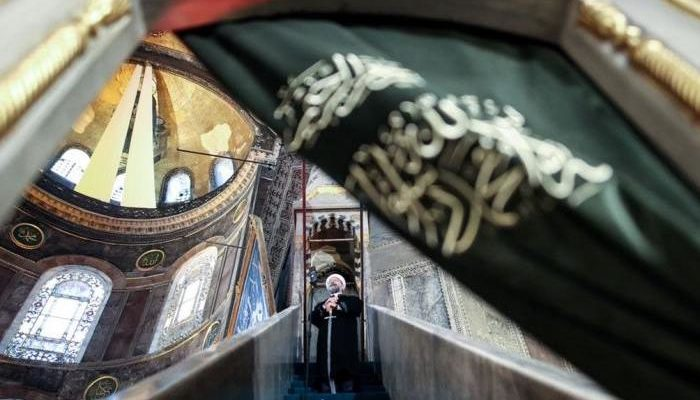 Eid prayers in Hagia Sophia for the first time in 87 years stir crowd with 'Palestinian' victimhood propaganda