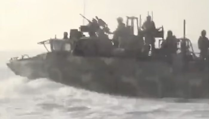 Iran releases footage of Islamic Revolutionary Guards in speedboats 'chasing US Navy vessel in Persian Gulf'